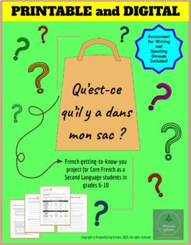 Qu'est-ce qu'il y a dans mon sac? - French Project