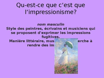 Qu'est-ce que c'est que l'impressionnisme?