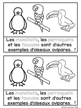 Qu'est-ce que c'est un animal ovipare? ~ French Oviparous Animals Reader
