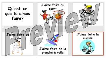 Qu'est-ce que tu aimes faire? Free time activities with opinions