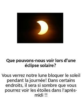 Qu'est-il arrivé au Soleil? (What happened to the Sun? a solar eclipse book)