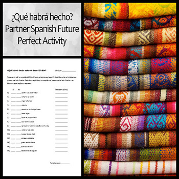 ¿Qué habrá hecho? Future Perfect Partner Activity