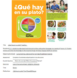 ¿Qué hay en su plato? Spanish Close Reading Worksheets