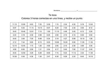 ¿Qué hora es? Communicative Spanish Activity for Telling Time