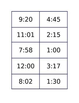 ¿Qué hora es?  Review and activity
