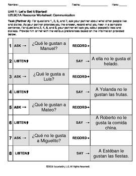 ¿Qué (no) le gusta(n) a él/ella? Spanish Complete LP, Worksheets & Assessment
