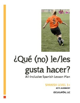 ¿Qué (no) le/les gusta hacer? Spanish Complete LP, Workshe