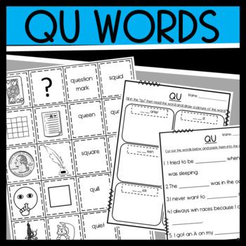Qu Worksheet | Teachers Pay Teachers