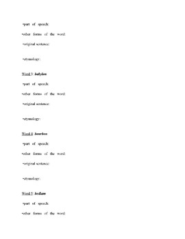 QuAVLE -  Quotes, Allusions, Vocabulary, Literary Terms Bell Work Curriculum