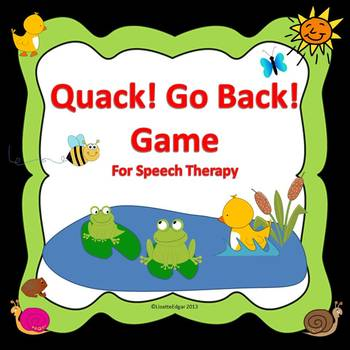 Quack! Go Back! Speech Therapy Game with Final /k/ Cards