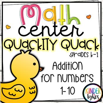 Quackity Quack!  Math Center Game