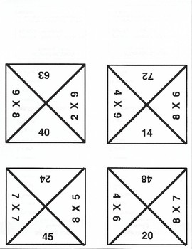 Quadominoes Matching Multiplication Game