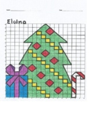 Quadrant 1 Coordinate Graph Mystery Picture, Eloina Christmas Tree