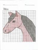 Quadrant 1 Coordinate Graph Mystery Picture, John Horse