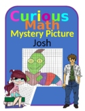 Quadrant 1 Coordinate Graph Mystery Picture, Josh Bookworm