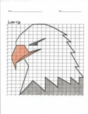 Quadrant 1 Coordinate Graph Mystery Picture, Larry the Eagle