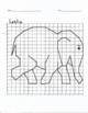 Quadrant 1 Coordinate Graph Mystery Picture, Leslie Elephant