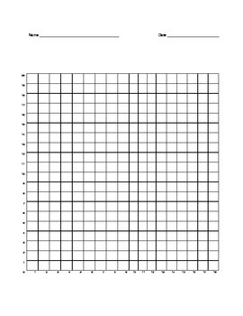 Quadrant 1 Coordinate Graph Mystery Picture, Mary the Owl