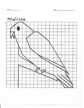 Quadrant 1 Coordinate Graph Mystery Picture, Melissa Bird