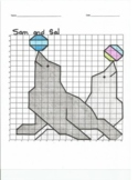 Quadrant 1 Coordinate Graph Mystery Picture, Sam and Sal Seals