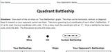 Quadrant Battleship - A Coordinate Plane Game