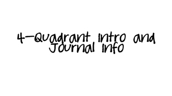 Quadrant Intro and Journal
