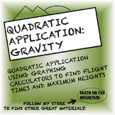 Quadratic Application: Gravity