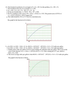 Quadratic Applications with Solutions
