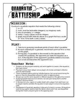 Quadratic Battleship