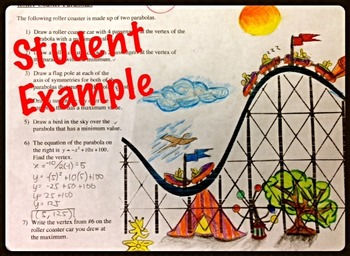 Quadratic Characteristics Activity: Roller Coaster of Parabolas