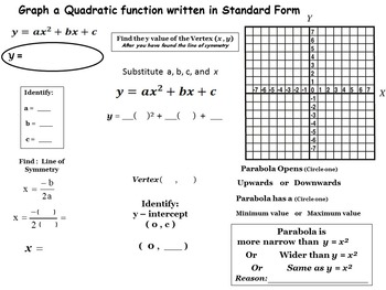 Quadratic Equation Foundations 1.0 - Standard Form