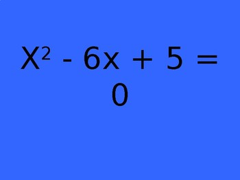 Quadratic Equation Jeopardy