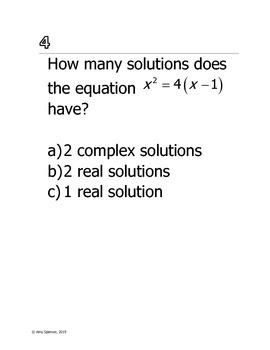 Quadratic Equation Stations