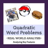 Quadratic Equation Word Problems (Real World Analysis)