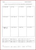 Quadratic Equation Worksheet -Christmas Riddle