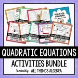 Quadratic Equations Activities Bundle