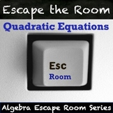 Quadratic Equations Activity! QR Code Algebra Escape Room