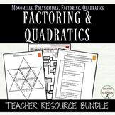 Quadratic Equations Resource Bundle for Algebra 1 Curriculum