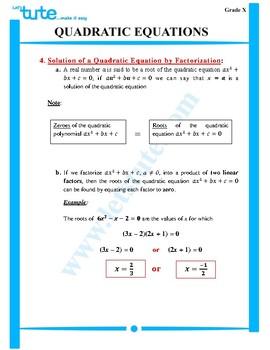 Quadratic Equations | Assessment | Worksheets