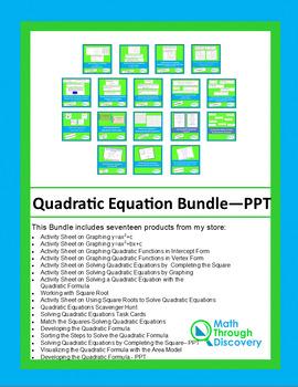 Quadratic Equations Bundle - PPT