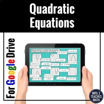 Quadratic Equations Card Sort Digital Activity
