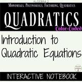 Quadratic Equations Color Coded Interactive Notebook Algebra 2 Unit 4