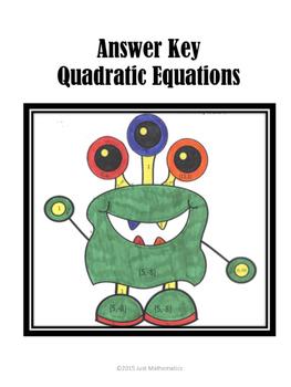 Quadratic Equations Coloring Activity
