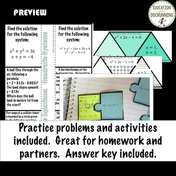 Quadratics Graphic organizers and Notes ONLY for Algebra 2 Curriculum Unit 4