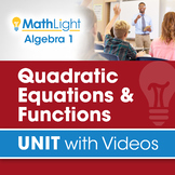 Quadratic Equations & Functions | Unit with Videos | Good
