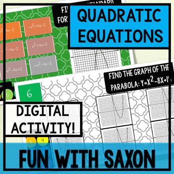 Quadratic Equations GOOGLE SLIDES INTERACTIVE ACTIVITY!