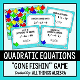 Solving Quadratic Equations Gone Fishin' Game (with Complex Solutions)