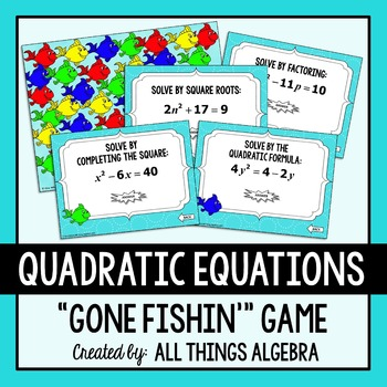 Quadratic Equations Gone Fishin' Game (with Complex Solutions)