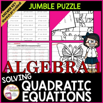 photograph regarding Printable Jumble Puzzles identified as Resolving Quadratic Equations: JUMBLE Puzzle