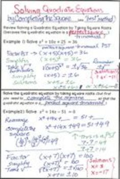 Quadratic Equations - Lesson 9 - Completing the Square